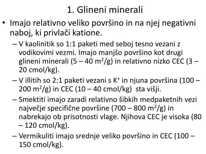 1. Glineni minerali