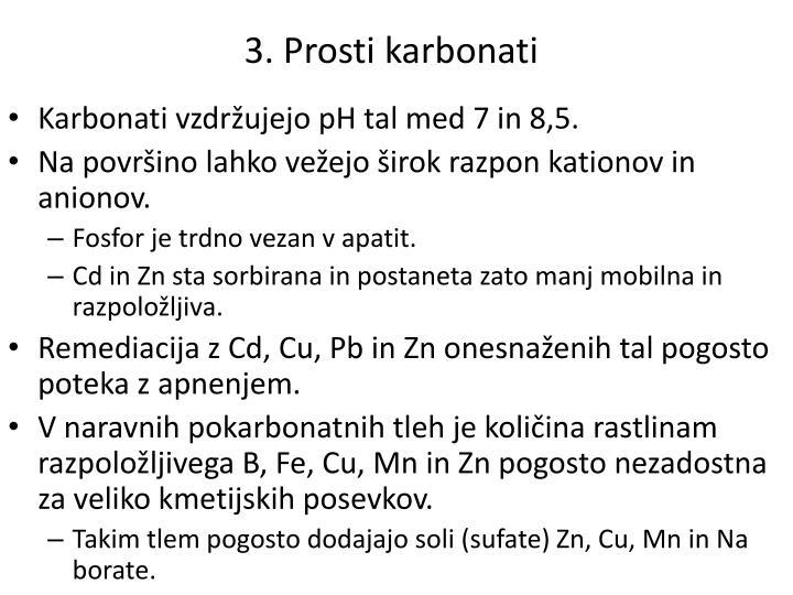 3. Prosti karbonati