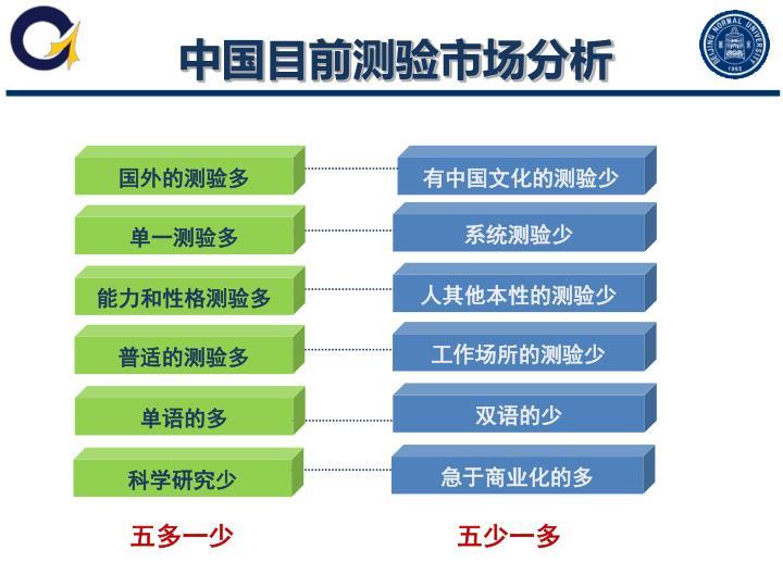 中国目前测验市场分析