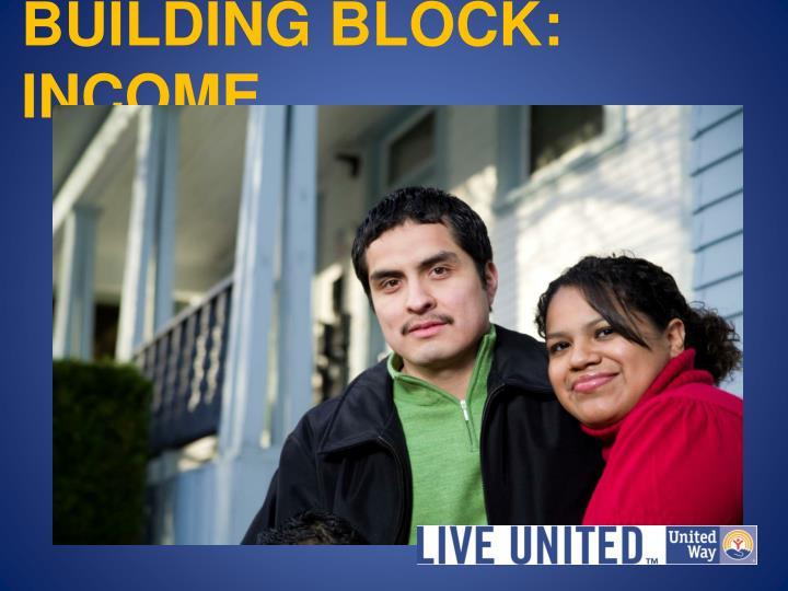 BUILDING BLOCK: INCOME