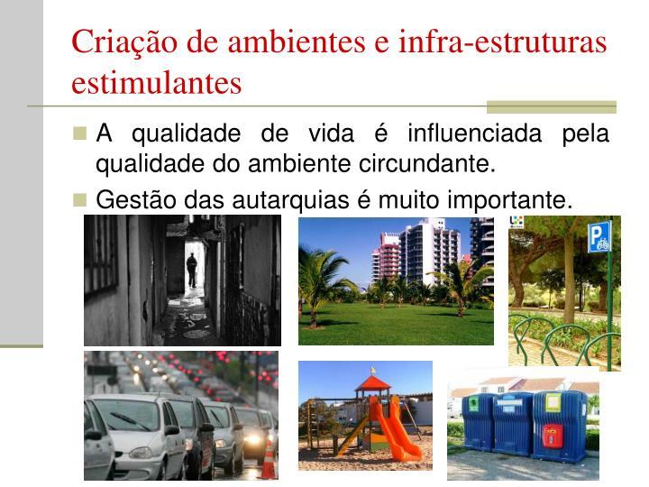 Criação de ambientes e infra-estruturas estimulantes