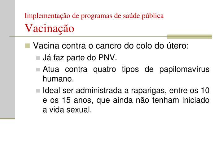 Implementação de programas de saúde pública