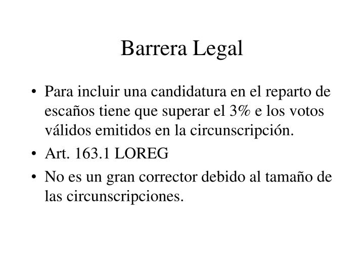 Barrera Legal