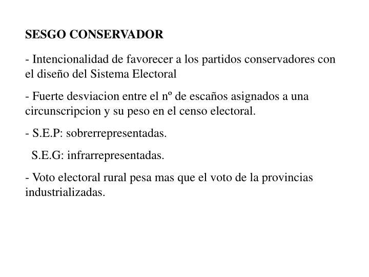 SESGO CONSERVADOR