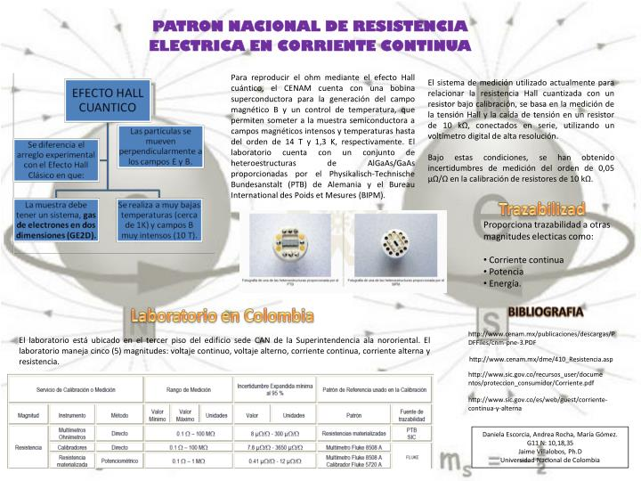 PATRON NACIONAL DE RESISTENCIA