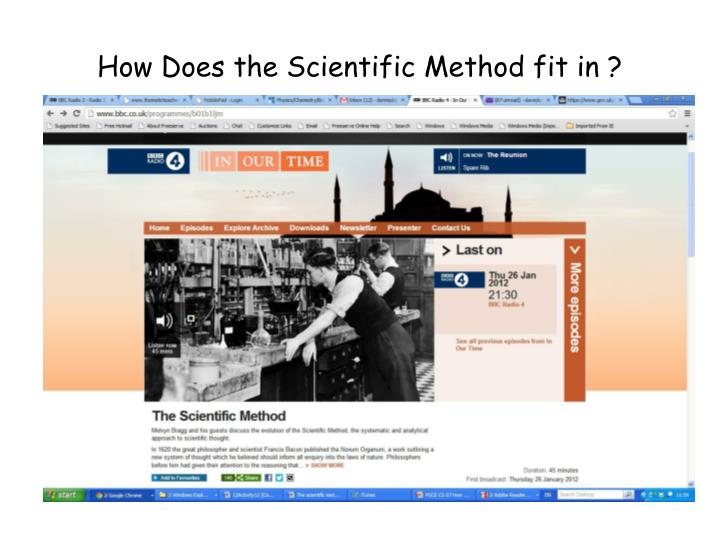 How Does the Scientific Method fit in ?