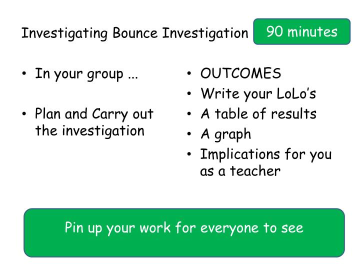 Investigating Bounce Investigation