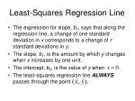 least squares regression line2