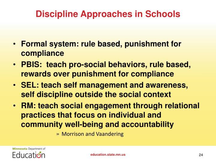 Discipline in schools