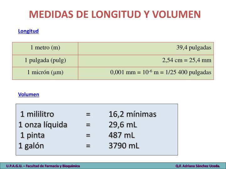 MEDIDAS DE LONGITUD Y VOLUMEN