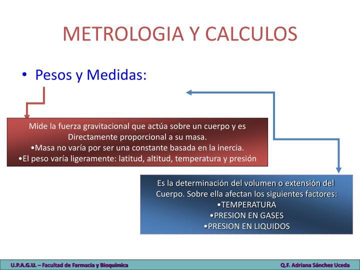 METROLOGIA Y CALCULOS