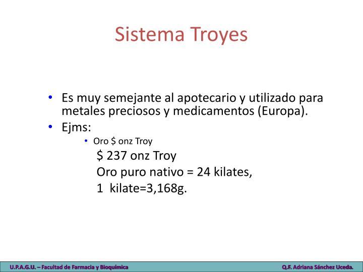 Sistema Troyes