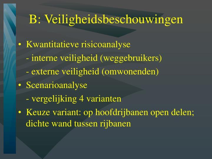 B: Veiligheidsbeschouwingen