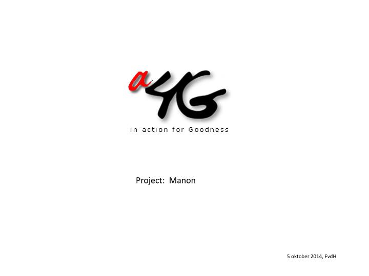 Project:  Manon