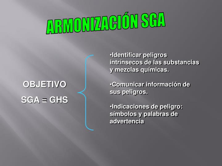 ARMONIZACIÓN SGA