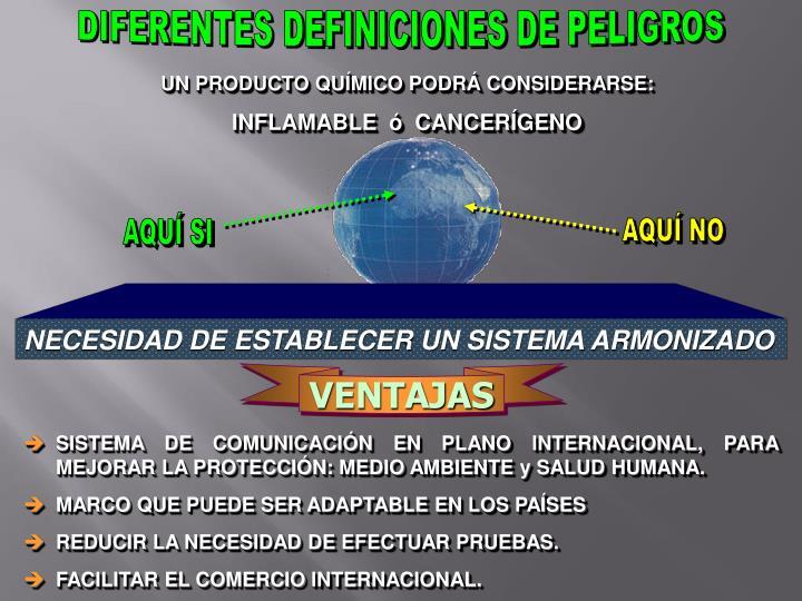 DIFERENTES DEFINICIONES DE PELIGROS