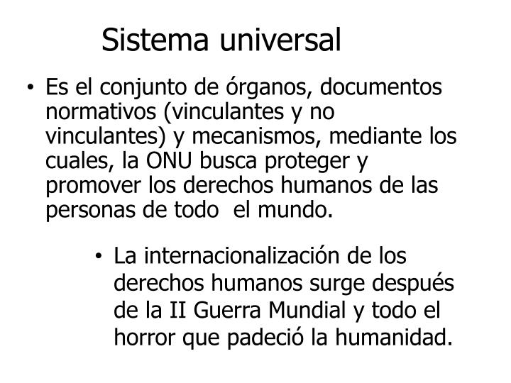 Sistema universal