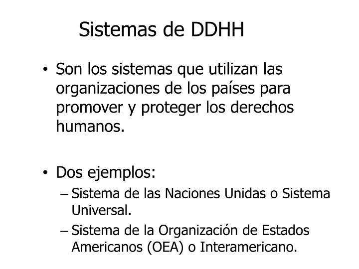 Sistemas de DDHH