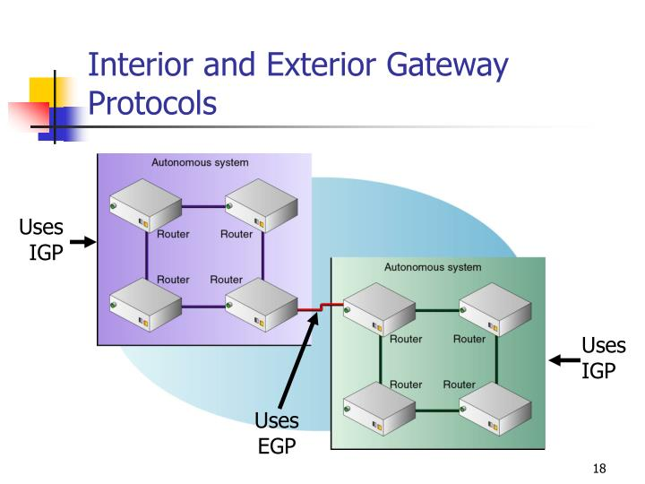 Interior and Exterior Gateway Protocols