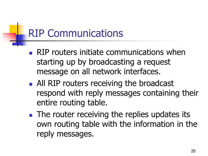 RIP Communications