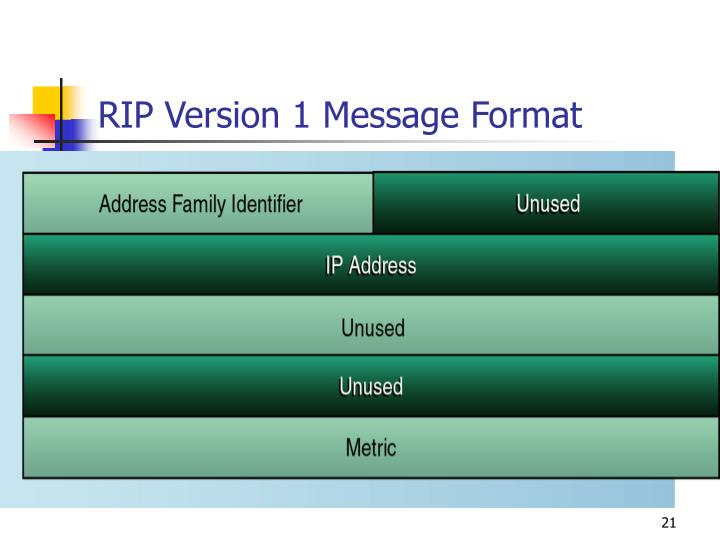 RIP Version 1 Message Format