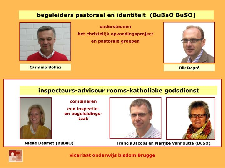 begeleiders pastoraal en identiteit  (BuBaO BuSO)