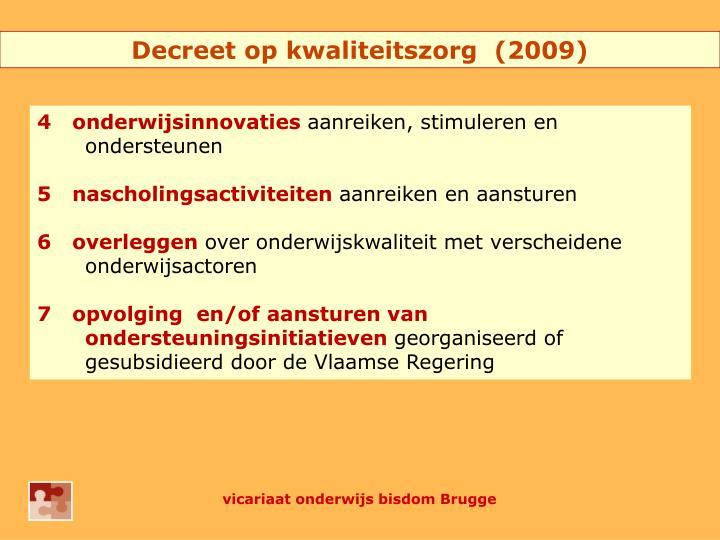 Decreet op kwaliteitszorg  (2009)