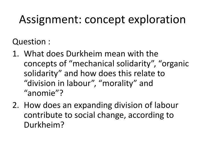Assignment: concept exploration
