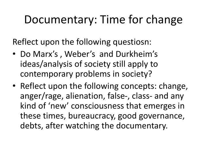 Documentary: Time for change