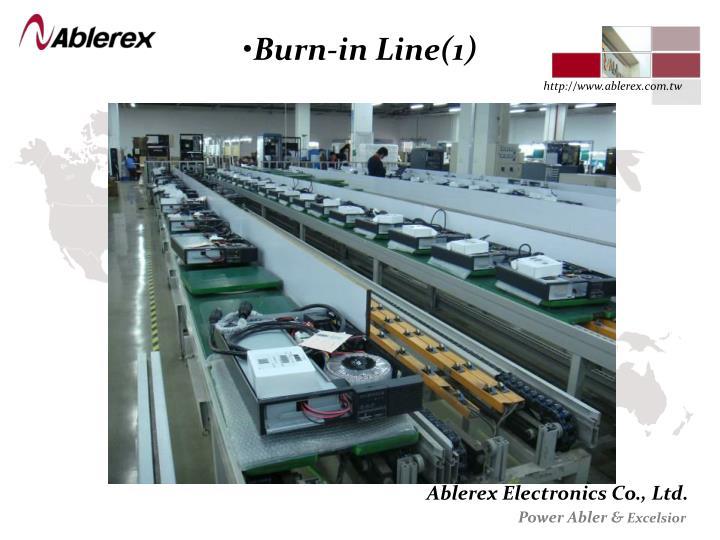 Burn-in Line(1)