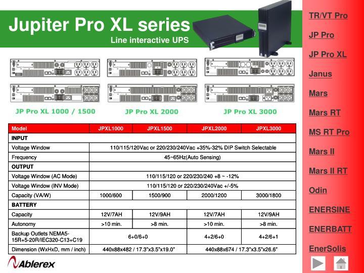 Jupiter Pro XL series