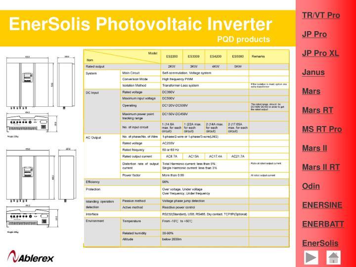 EnerSolis Photovoltaic Inverter