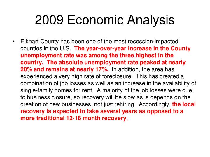 2009 Economic Analysis