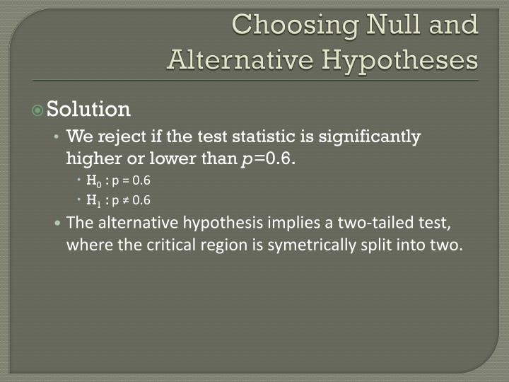 Choosing Null and