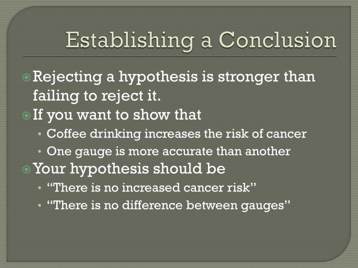 Establishing a Conclusion