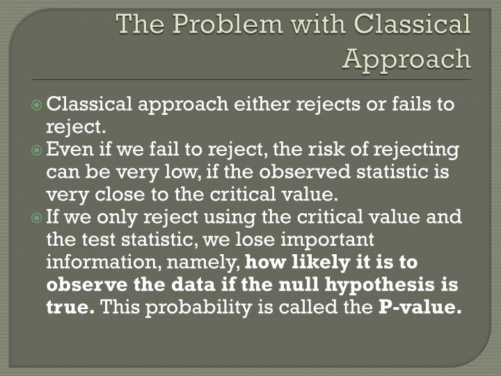 The Problem with Classical Approach
