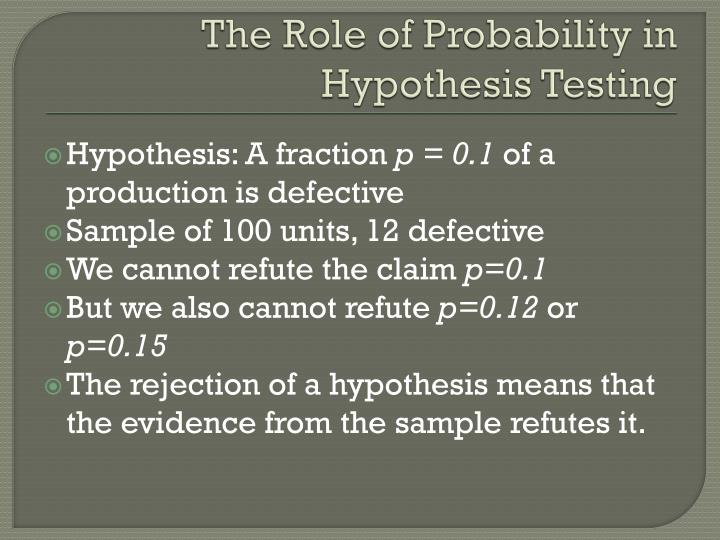 The Role of Probability in