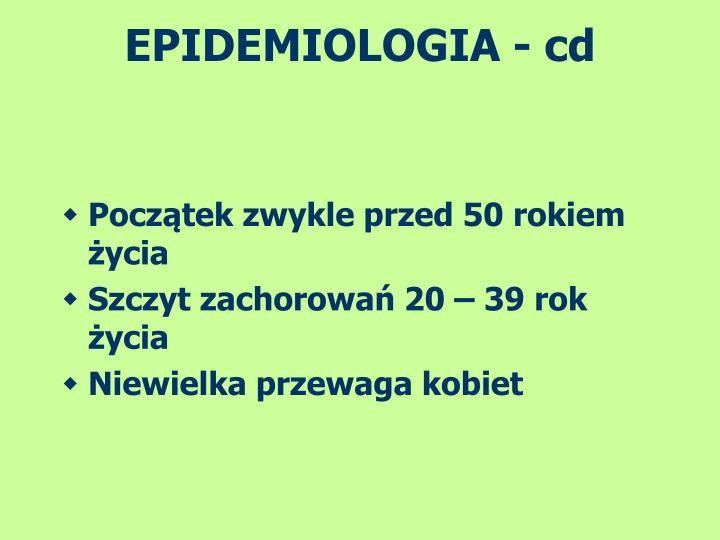 EPIDEMIOLOGIA - cd
