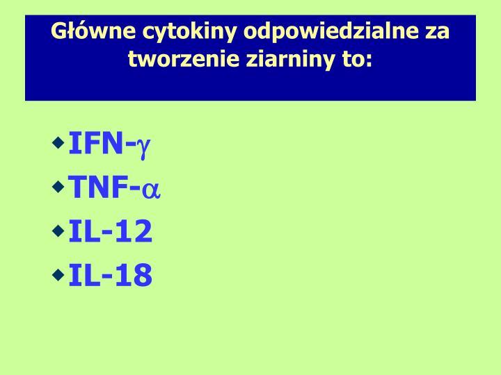 Gwne cytokiny odpowiedzialne za tworzenie ziarniny to: