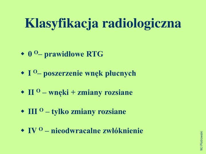 Klasyfikacja radiologiczna