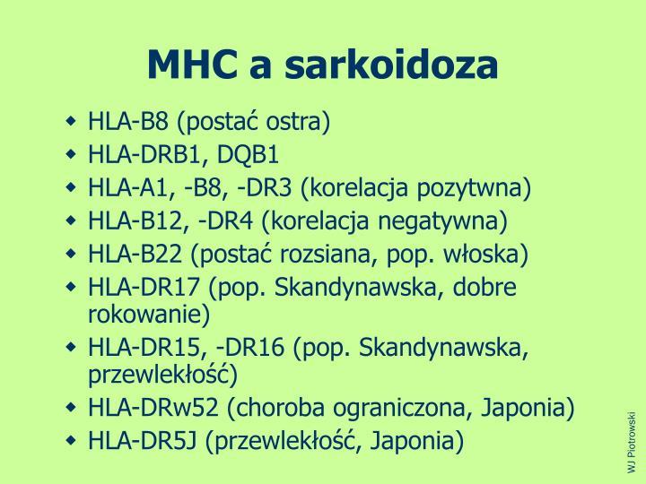 MHC a sarkoidoza