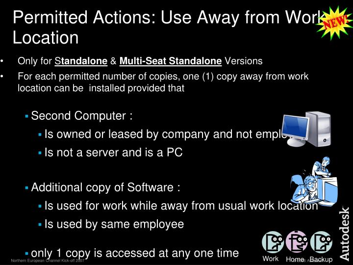 Permitted Actions: Use Away from Work Location
