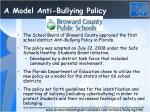 a model anti bullying policy
