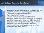 anti bullying specialist new jersey