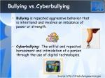 bullying vs cyberbullying