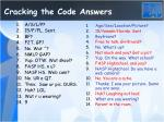 cracking the code answers