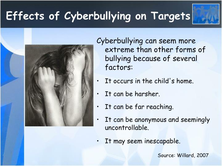 Effects of Cyberbullying on Targets
