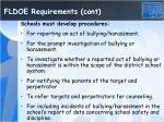 fldoe requirements cont
