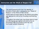 instruction and the week of respect nj