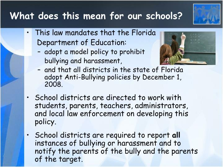 What does this mean for our schools?